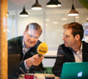 Sybren Visser, Maarten Bouwhuis. Foto Wouter van der Wal, Startersmarktplaats Veghel