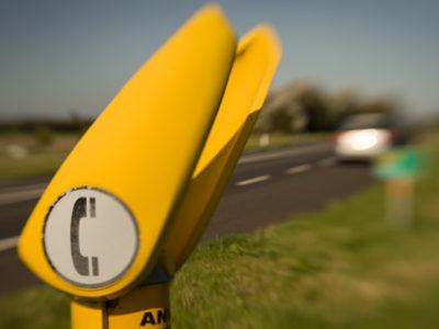 ANWB Telefoonpaal langs provinciale weg Alkmaar-Den Helder. ANWB Telefoonpaal langs provinciale weg Alkmaar-Den Helder. Foto Sybren Visser